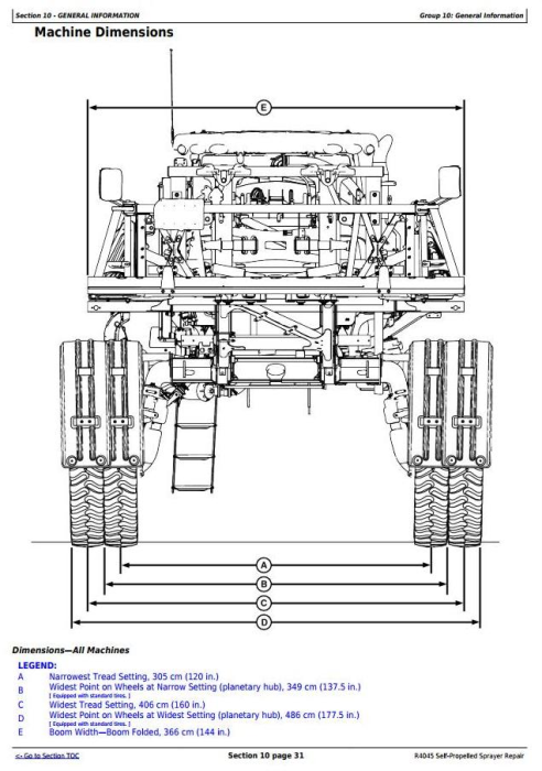 Second Additional product image for - John Deere R4045 Self-Propelled Sprayers Service Repair Technical Manual (TM116119)