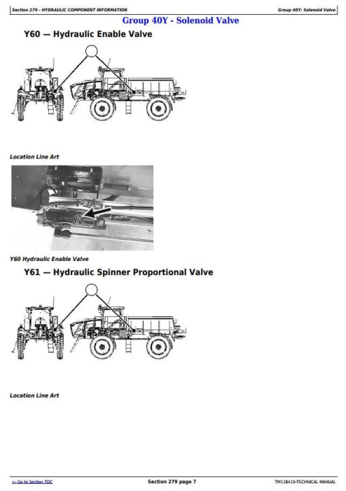 First Additional product image for - John Deere DN456, DN485 Dry Spinner Spreader Fertilize Sprayers Diagnostic Service Manual (TM128419)