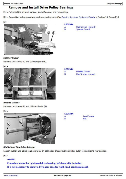 Fourth Additional product image for - John Deere DN456, DN485 Dry Spinner Spreader Fertilize Sprayers Diagnostic Service Manual (TM128419)