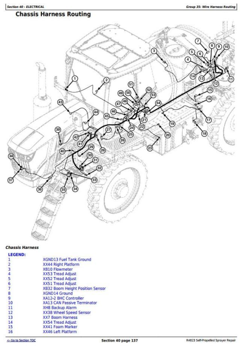 Second Additional product image for - John Deere R4023 Self-Propelled Sprayers Service Repair Technical Manual (TM130919)
