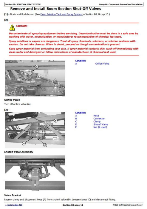Fourth Additional product image for - John Deere R4023 Self-Propelled Sprayers Service Repair Technical Manual (TM130919)
