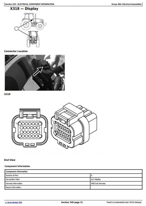 Third Additional product image for - John Deere M724, M732, M740, M732i, M740i Trailed Crop Sprayers Diagnostic Service Manual (TM407219)