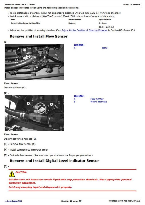 Second Additional product image for - John Deere M724, M732, M740, M732i, M740i Trailed Crop Sprayers Service Repair Tech.Manual (TM407319)