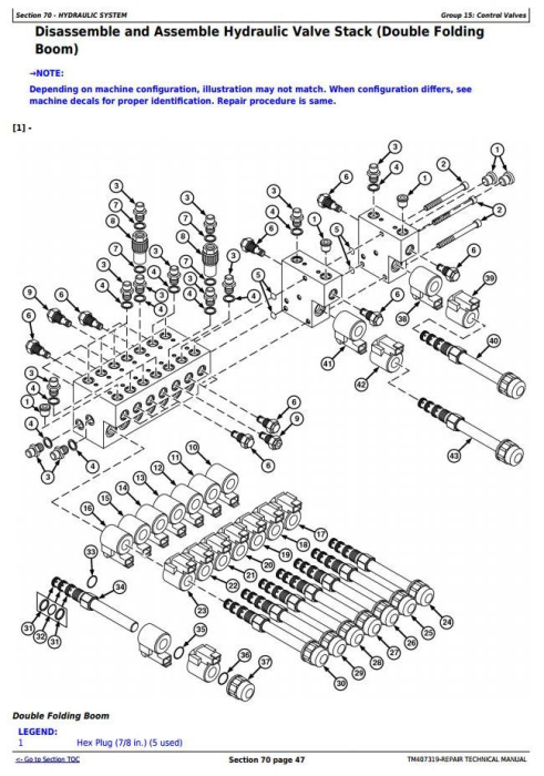 Third Additional product image for - John Deere M724, M732, M740, M732i, M740i Trailed Crop Sprayers Service Repair Tech.Manual (TM407319)