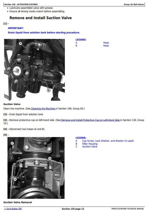 Fourth Additional product image for - John Deere M724, M732, M740, M732i, M740i Trailed Crop Sprayers Service Repair Tech.Manual (TM407319)