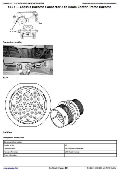 Third Additional product image for - John Deere M952, M962, M952i, M962i Trailed Crop Sprayers Diagnostic&Tests Service Manual (TM403619)