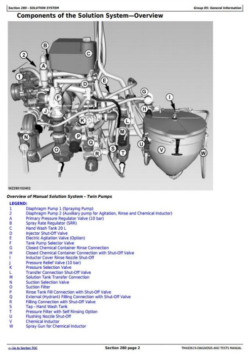 Fourth Additional product image for - John Deere M952, M962, M952i, M962i Trailed Crop Sprayers Diagnostic&Tests Service Manual (TM403619)