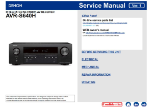 denon avr s640h av receiver service manual