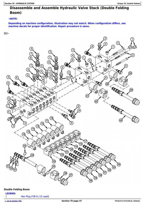 Second Additional product image for - John Deere 724, 732, 740, 724i, 732i, 740i Trailed Crop Sprayers Technical Service Manual (TM402919)