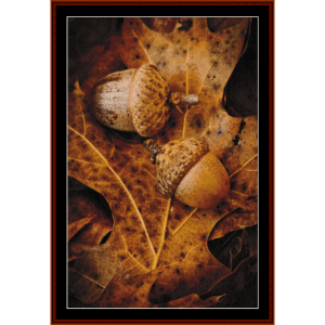 Acorns - Autumn cross stitch pattern by Cross Stitch Collectibles | Crafting | Cross-Stitch | Other