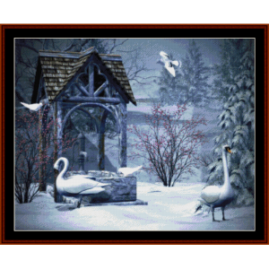 Christmas Geese - Holiday cross stitch pattern by Cross Stitch Collectibles | Crafting | Cross-Stitch | Other