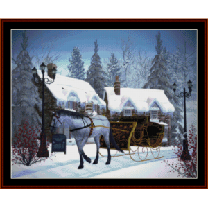 Christmas Sleigh - Holiday cross stitch pattern by Cross Stitch Collectibles | Crafting | Cross-Stitch | Other