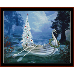 fantasy christmas tree - holiday cross stitch pattern by cross stitch collectibles