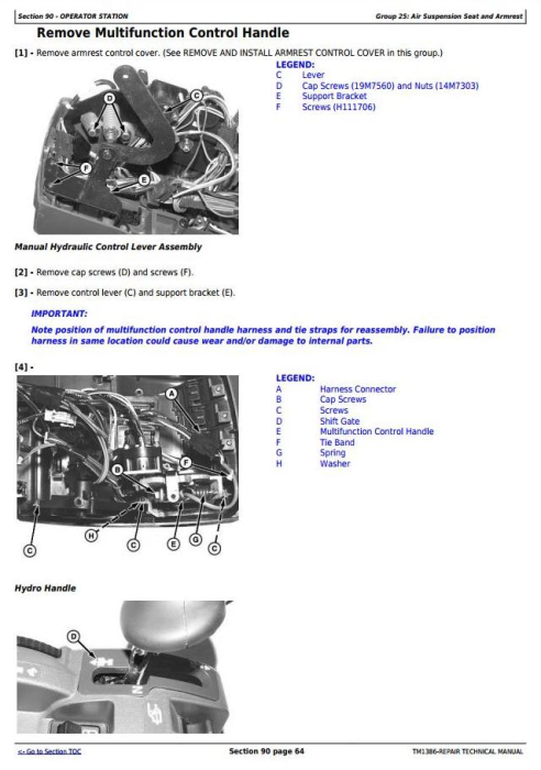 Fourth Additional product image for - John Deere 4930 Self-Propelled Sprayers Service Repair Technical Manual (TM1386)