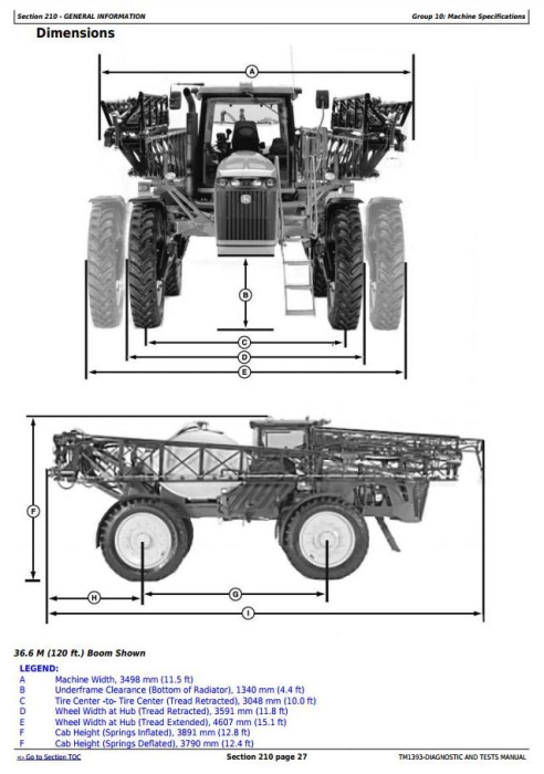 First Additional product image for - John Deere 4930 Self-Propelled Sprayer Diagnosis and Test Service Manual (TM1393)