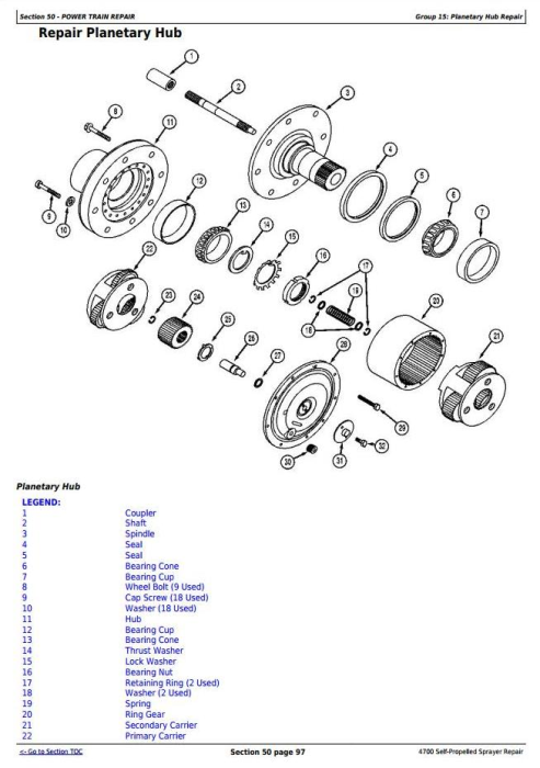 Fourth Additional product image for - John Deere 4700 Self-Propelled Sprayers Service Repair Technical Manual (TM1688)