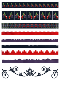 Christmas Children Borders for cardmaking and scrapbboking | Crafting | Paper Crafting | Other