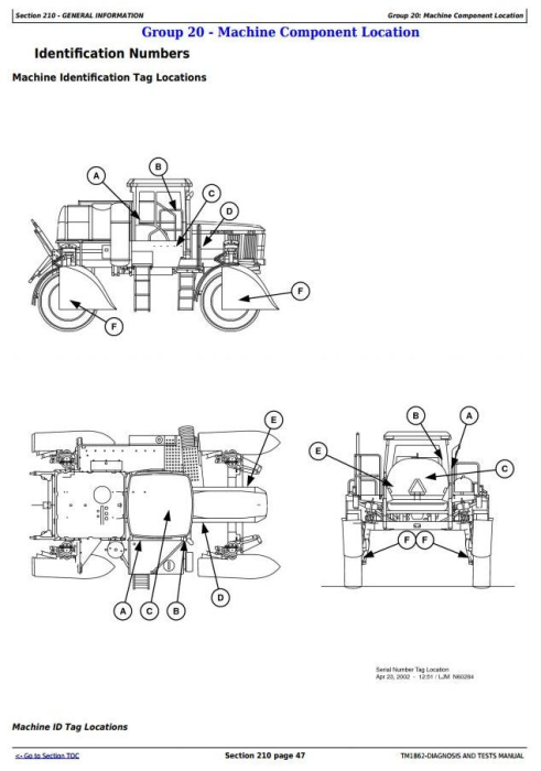 Second Additional product image for - John Deere 4710 Self-Propelled Sprayers (SN. -004000) Diagnostic & Tests Service Manual (TM1862)