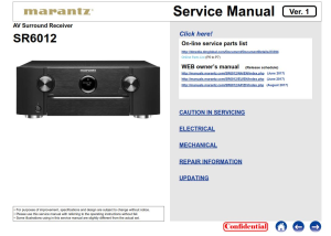 marantz sr6012 audio video receiver service manual