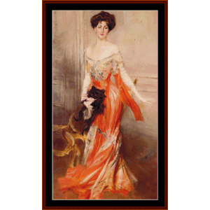 elizabeth drexel - boldini cross stitch pattern by cross stitch collectibles