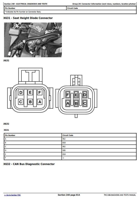 Third Additional product image for - John Deere 4710 Self-Propelled Sprayer (SN.from 004001) Diagnostic and Tests Service Manual (TM2108)