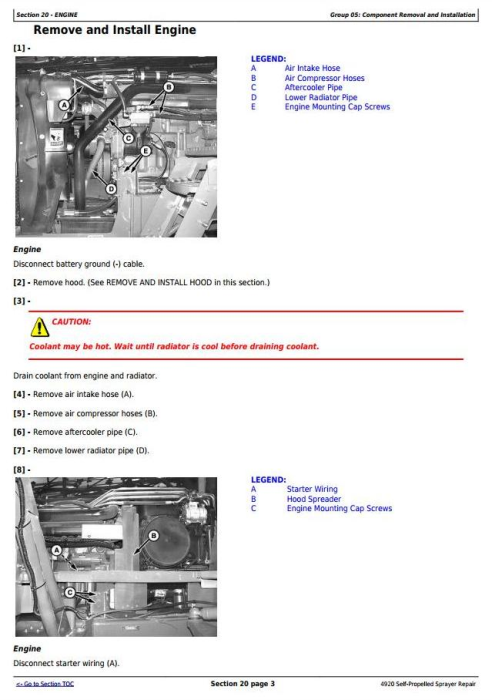 Second Additional product image for - John Deere 4920 Self-Propelled Sprayers Service Repair Technical Manual (TM2124)