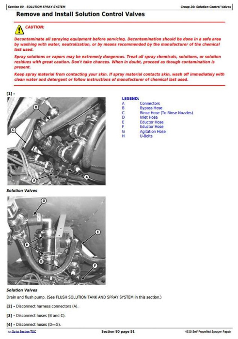 Fourth Additional product image for - John Deere 4920 Self-Propelled Sprayers Service Repair Technical Manual (TM2124)