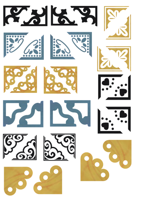 Fourth Additional product image for - The General - Craft papers for cardmaking and scrapbooking. 40 sheets in PNG