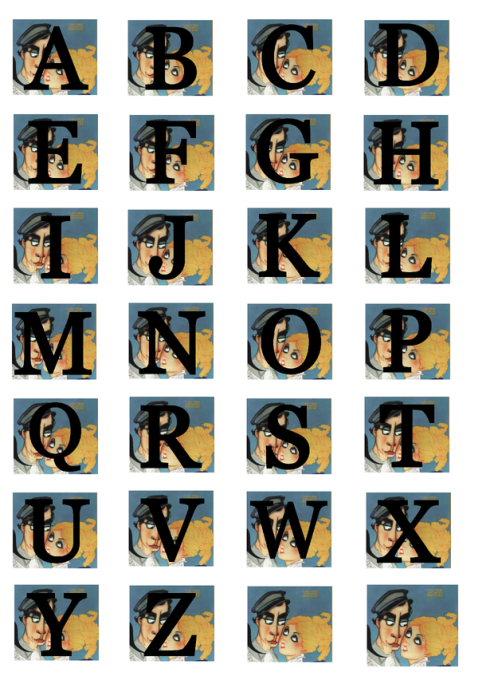 Second Additional product image for - The General. Alphabet and numbers for cardmaking and scrapbooking