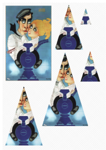 The General. A6 triangle stacks for cardmaking and scrapbooking.  1 x A4 sheet in PNG.   Crafting   Paper Crafting   Other
