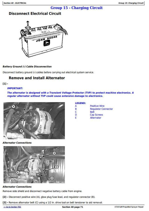 Second Additional product image for - John Deere 4720 Self-Propelled Sprayers Service Repair Technical Manual (TM2229)