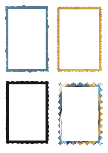 The General. Frames for cardmaking and scrapbooking.  1 x A4 sheet in PNG. | Crafting | Paper Crafting | Other