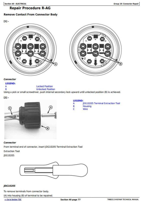 Second Additional product image for - John Deere 4630 Self-Propelled Sprayers (PIN Prefix 1NW) Service Repair Technical Manual (TM803119)