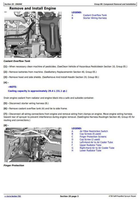 Second Additional product image for - John Deere 4730 Self-Propelled Sprayers (PIN Prefix 1NW) Service Repair Technical Manual (TM802519)