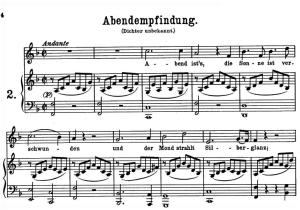 Abendempfindung an Laura, K. 523, High Voice in F Major, W.A. Mozart., C.F. Peters (Friedlaender). A4 | eBooks | Sheet Music