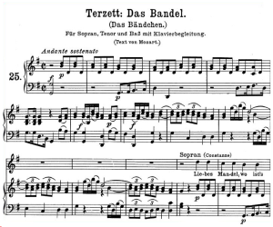 Das Bandel, K.441 High Key in G Major (Terzett) , W.A. Mozart., C.F. Peters (Friedlaender). A4 | eBooks | Sheet Music