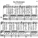 Das Kinderspiel K.498 High or Medium Voice in A Major, W.A. Mozart., C.F. Peters (Friedlaender). A4 | eBooks | Sheet Music