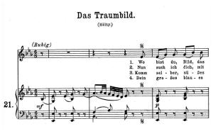Das Traumbild K.530, High Voice in E-Flat Major, W.A. Mozart., C.F. Peters (Friedlaender). A4 | eBooks | Sheet Music