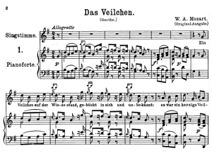 Das Veilchen K.476, High Voice in G Major, W.A. Mozart., C.F. Peters (Friedlaender). A4 | eBooks | Sheet Music