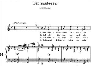 Der Zauberer K.472 High Voice in G minor, W.A. Mozart., C.F. Peters (Friedlaender). A4 | eBooks | Sheet Music