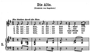 Die Alte, K.517, High or Medium Voice in E minor, W.A. Mozart., C.F. Peters (Friedlaender). A4 | eBooks | Sheet Music