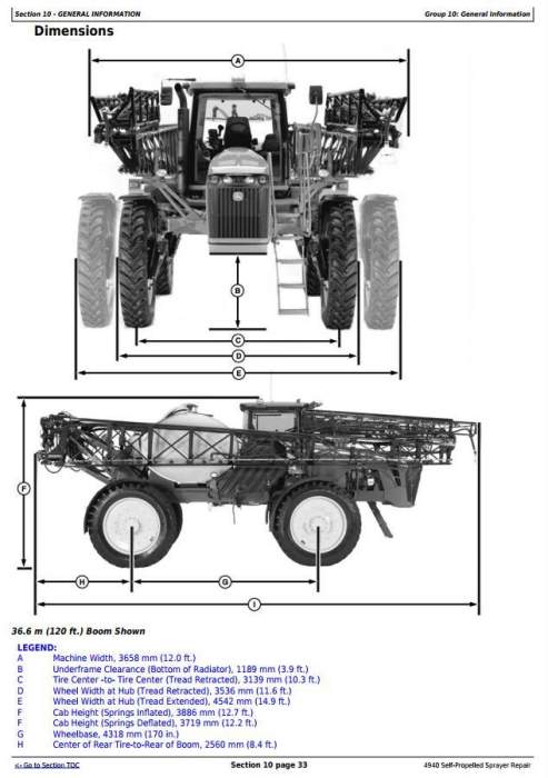 First Additional product image for - John Deere 4940 Self-Propelled Sprayers Service Repair Technical Manual (TM113619)