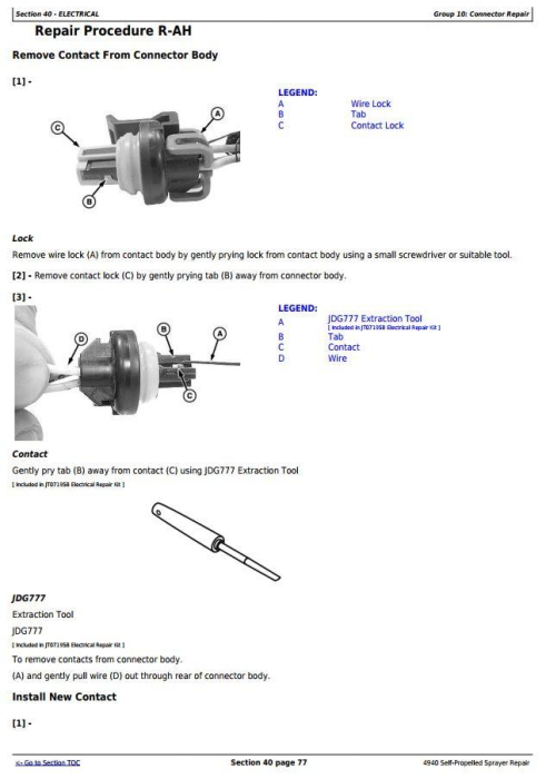Second Additional product image for - John Deere 4940 Self-Propelled Sprayers Service Repair Technical Manual (TM113619)