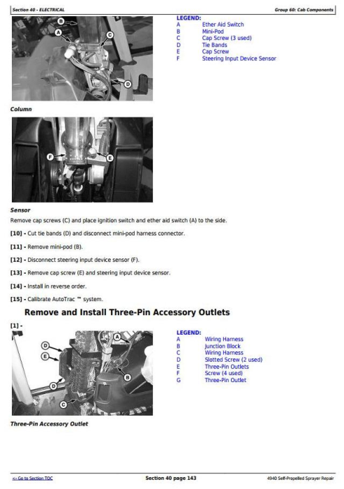Third Additional product image for - John Deere 4940 Self-Propelled Sprayers Service Repair Technical Manual (TM113619)
