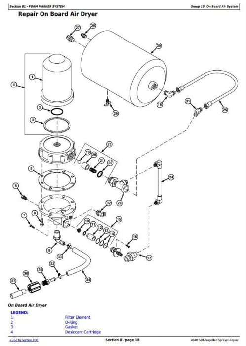 Fourth Additional product image for - John Deere 4940 Self-Propelled Sprayers Service Repair Technical Manual (TM113619)