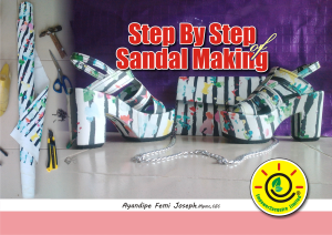 step by step of sandal making
