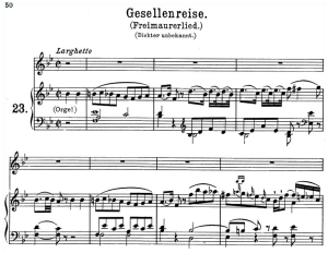 gesellenreise k.468, high voice in b-flat major, w.a. mozart., c.f. peters (friedlaender). a4