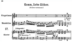 Komm, liebe Zither K.351, High Voice in C Major,  W.A. Mozart. C.F. Peters (Friedlaender). A4 | eBooks | Sheet Music