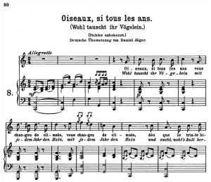 Oiseaux, si tous les ans K.307, High Voice in C Major, W.A. Mozart., C.F. Peters (Friedlaender). A4 | eBooks | Sheet Music