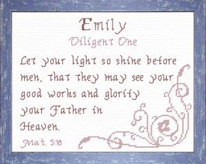 name blessings - emily 3